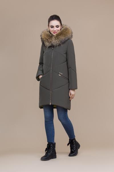 Пальто женское плащевое утепленное 5-8088-1