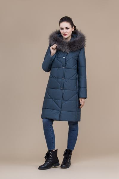 Пальто женское плащевое утепленное 5-8121-1
