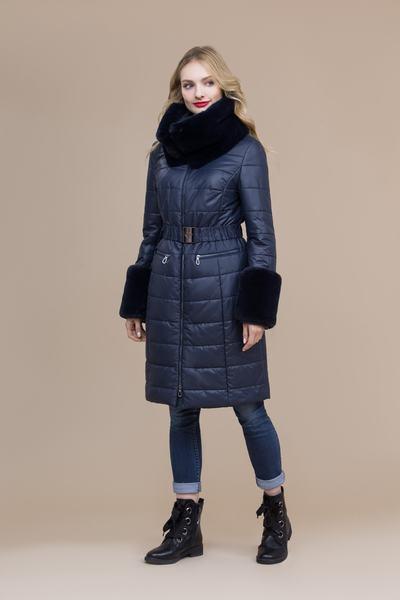 Пальто женское плащевое утепленное 5-8120-1