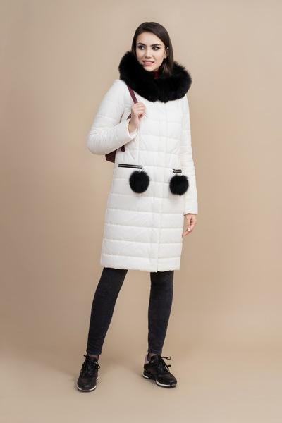 Пальто женское плащевое утепленное 5-7319-2