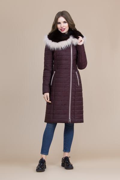 Пальто женское плащевое утепленное 5-8092-1