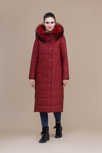 Пальто женское плащевое утепленное 5-8083-1