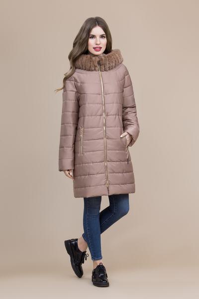 Пальто женское плащевое утепленное 5-8097-1
