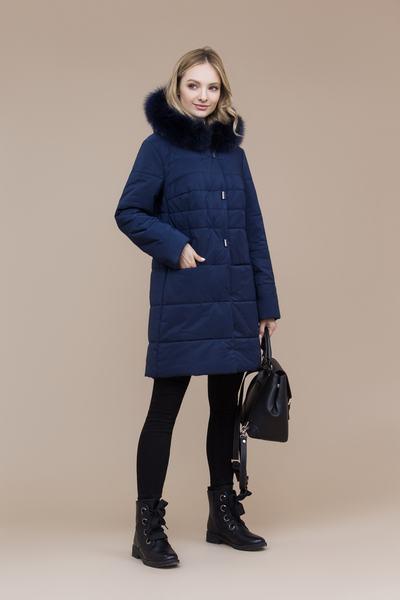 Пальто женское плащевое утепленное 5-7298-1