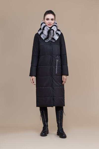 Пальто женское плащевое утепленное 5-8082-1