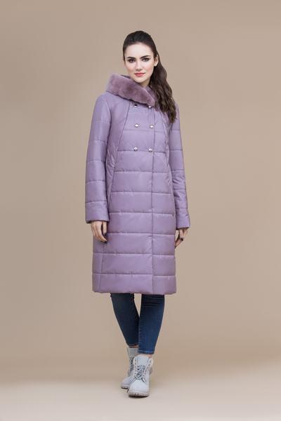Пальто женское плащевое утепленное 5-8084-1
